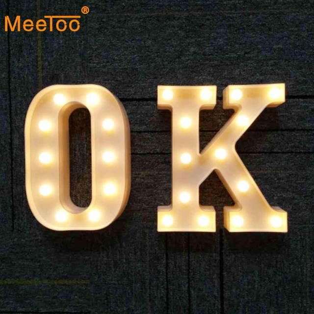 Alphabet Led Luminous Letter Light Battery Indoor Holiday Lights