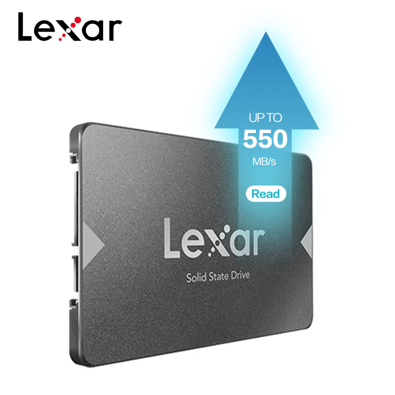 Lexar NS100 2.5 SATA III (6Gb/s) SSD High Speed Up To 550MB/s Internal Solid State Drives For Upgrading Laptop Desktop Computer