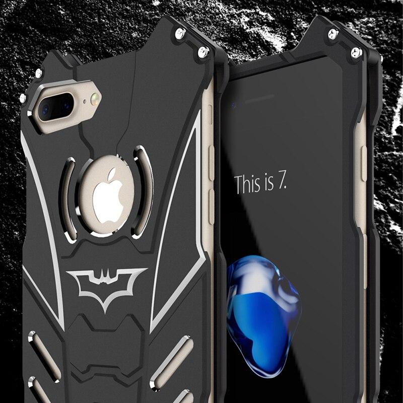 bilder für Aluminum case für iphone 6 6s 7 7 plus 5 5 s se r-just batman schwere staub rüstung schutz coque für iphone7 Plus