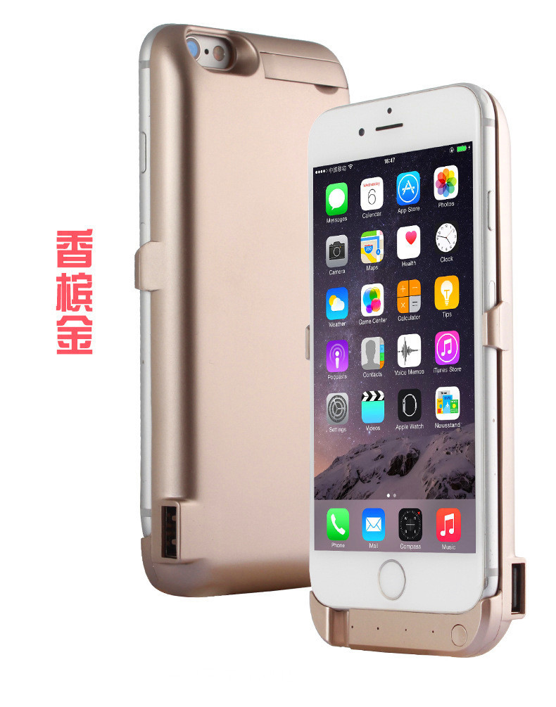2016 10000mAh Portable External Power Bank Battery Charger Stand Case Cover For iPhone 6 6s Phone Cases Powerbank