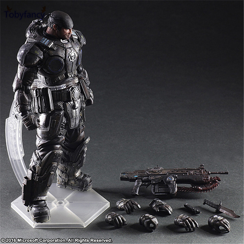 Tobyfancy Play Arts Kai PA Marcus Fenix Game Gears of War 3 War Machine Action Figure Collection Model Toy 260MM майка классическая printio gears of war 2