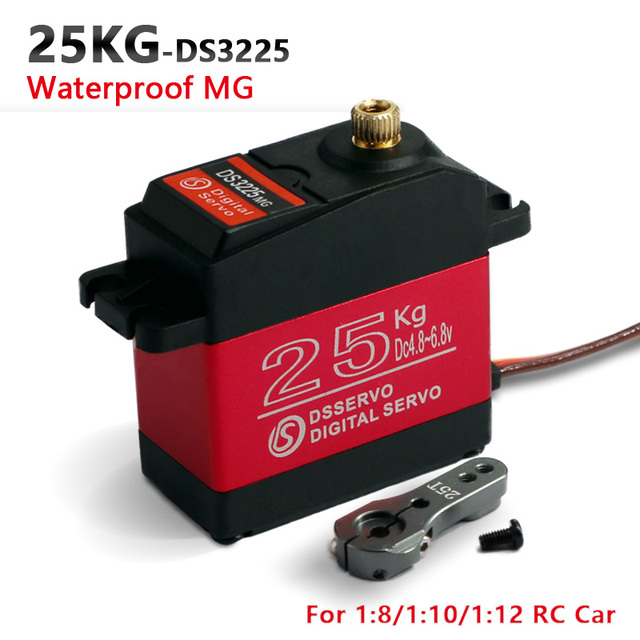 1X DS3225 עדכון סרוו 25KG מלא מתכת באחה סרוו עמיד למים סרוו עבור באחה מכוניות + משלוח חינם