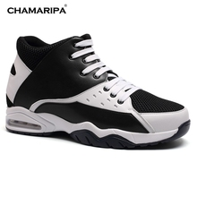 CHAMARIPA New Fashion Height Elevator Shoes Men Increase Height 9.5cm/3.74 inch Shoes for Taller and Confidence