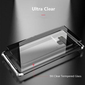 Image 2 - オリジナル LUPHIE サムスンギャラクシー注 9 金属バンパークリア強化ガラスカバー Note9 透明ケース Coque バッグ