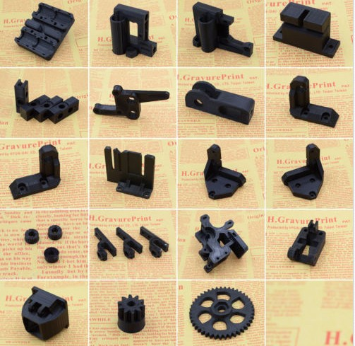 Funssor FDM Reprap Prusa I3 rework PLA printed parts kit M5 M8 lead rod version colorful reprap i3 rework 3d printer pla required pla plastic parts set printed parts kit mendel i3 free shipping