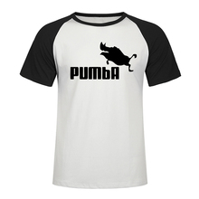 2019 Funny Tee Cute Raglan T Shirts Homme Pumba Men Short Sleeves Cotton Tops Cool T Shirt Summer Jersey Costume Fashion T-shirt
