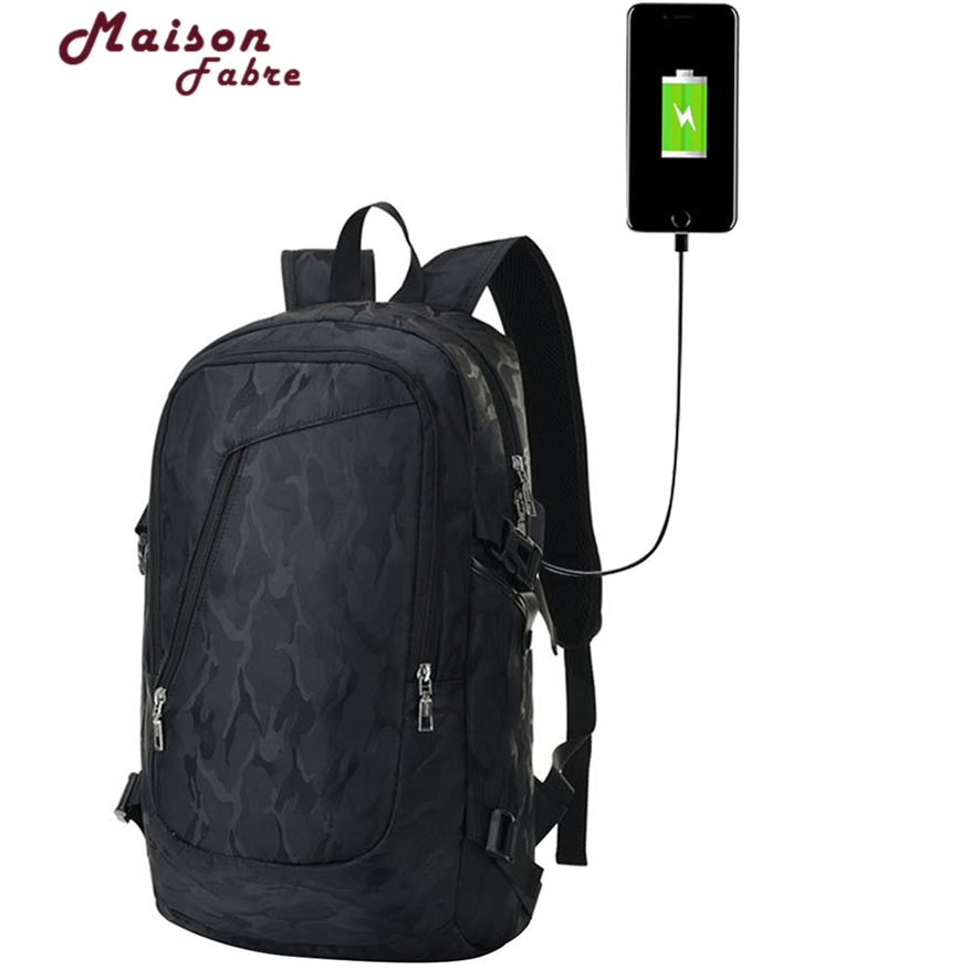 Laptop Backpack for 15.6 inch Charging USB Port Computer Backpacks Male Anti-Theft Waterproof Busines mochila masculina 1012#23