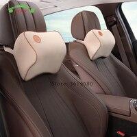 Car Headrest Memory Foam Seat Head Neck Pillow Auto Seat Massage Cushion Cover for BMW e39 Mazda Ford Volvo Lada Car Accessories