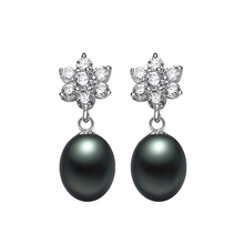 8 Types Black Pearl Earrings,AAAA High Quality 925 sterling Silver Jewelry For Women,Fashion Party Earrings with gift box