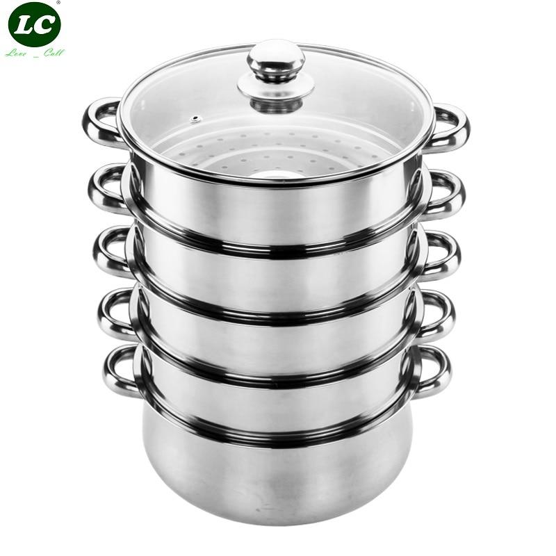 Ustensiles de cuisine vapeur cuisson vapeur ustensile outils de cuisson en acier inoxydable ensemble de ustensiles de cuisine fournitures de Pot de nourriture Pot de cuisson à la vapeur