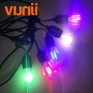 Image 2 - IP65 15M Commercial Grade LED S14 String Light Bulb LED Multicolor Light String For Outdoor Wedding Lighting Holiday Event Party