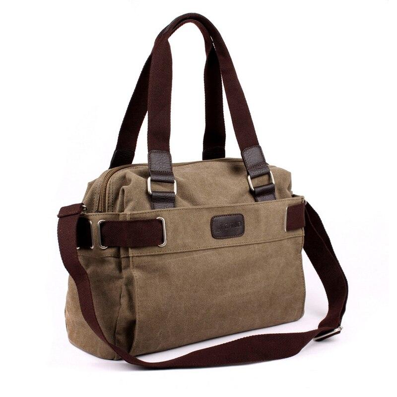2016 Vintage bag Messenger Bag Men s Vintage Canvas School Military Shoulder  Bag Retro Style For Man Canvas Handbag-in Crossbody Bags from Luggage   Bags 3c76801ae9ac9