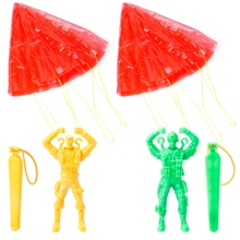2 Pcs Hand Parachute Kite Surf Toy Throw And Drop Outdoor Fun Sports Kids Toy-m3
