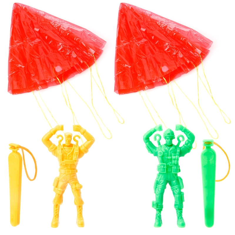 2 Pcs Hand Parachute Kite Surf Toy Throw And Drop Outdoor Fun Sports Kids Toy-m35