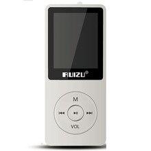 2017 Nuevos Llegan Ultrafino 8 gb Reproductor de MP3 Con Pantalla de 1.8 Pulgadas se puede Jugar 80 horas Original RUIZU X02 FM E-Book Reloj de Datos blanco