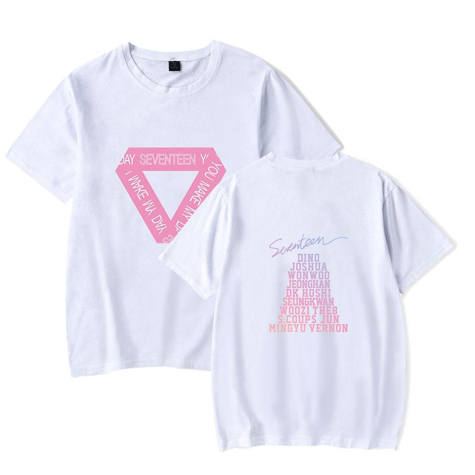 Apprehensive Seventeen Kpop Pritned Sumemr Short Sleeve T-shirts Women/men Fashion Streetwear Casual Tshirts 2018 Hot Sale Trendy Clothes T-shirts