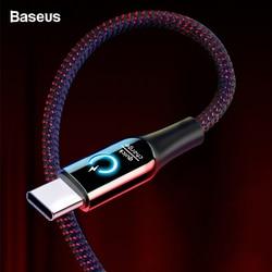 Baseus 3a smart power fora usb tipo c cabo qick carga tipo-c cabo para samsung s10 s9 s8 mais oneplus 6t 6 5t usb c USB-C cabo