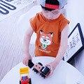 2016 Camisa de Los Niños Del Verano Camisetas de Algodón Sin Mangas 18m-8y Zootopia Niño Marca de Ropa Niños de la Manera Camisetas para Chicas 213