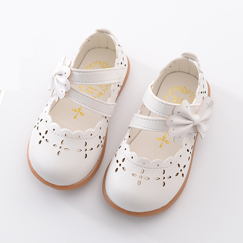 White Pink Little Baby Girl Shoes Toddler Dress Shoes For