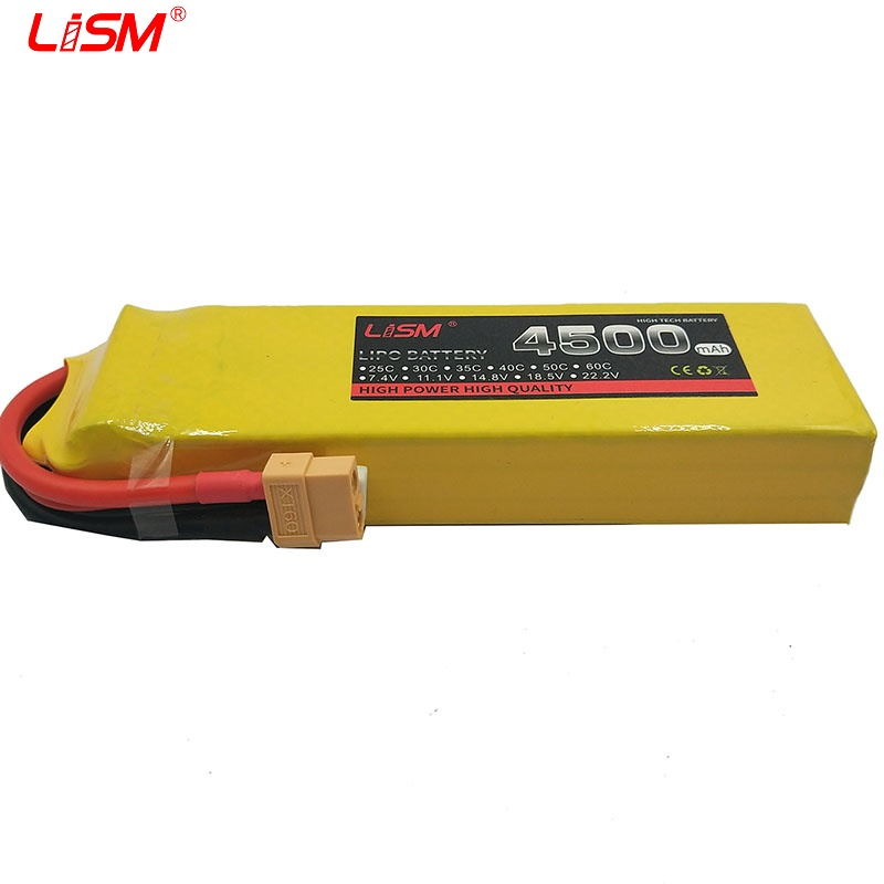 11 1V 4500Mah 60C Rechargeable Lipo Battery With T Plug Upgrade Parts For RC Aircraft Helicopters