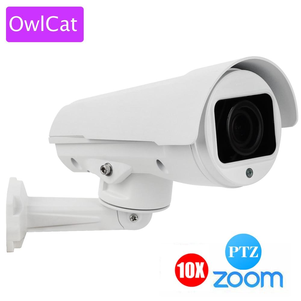 OWLCAT 1080P 2MP 4MP Full HD Bullet IP Camera PTZ 4X 10X ZOOM AUTO FOCUS Varifocal Network Outdoor P2P CAM ONVIF 1080p 2mp 10x optical zoom full hd outdoor cctv bullet poe weatherproof ip ptz network camera 5 1 51mm ipcam onvif rtsp video