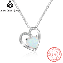 925 Sterling Silver Heart Necklaces for Women Romantic Love White Opal Necklace Mother's day Anniversary Gift (Lam Hub Fong) arlight светильник ltd 80r opal roll 2x3w day white