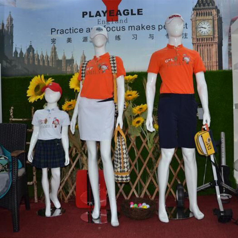 PLAYEAGLE Golf font b Polo b font Shirt Family Suit for Couple and Kids Quick Dry