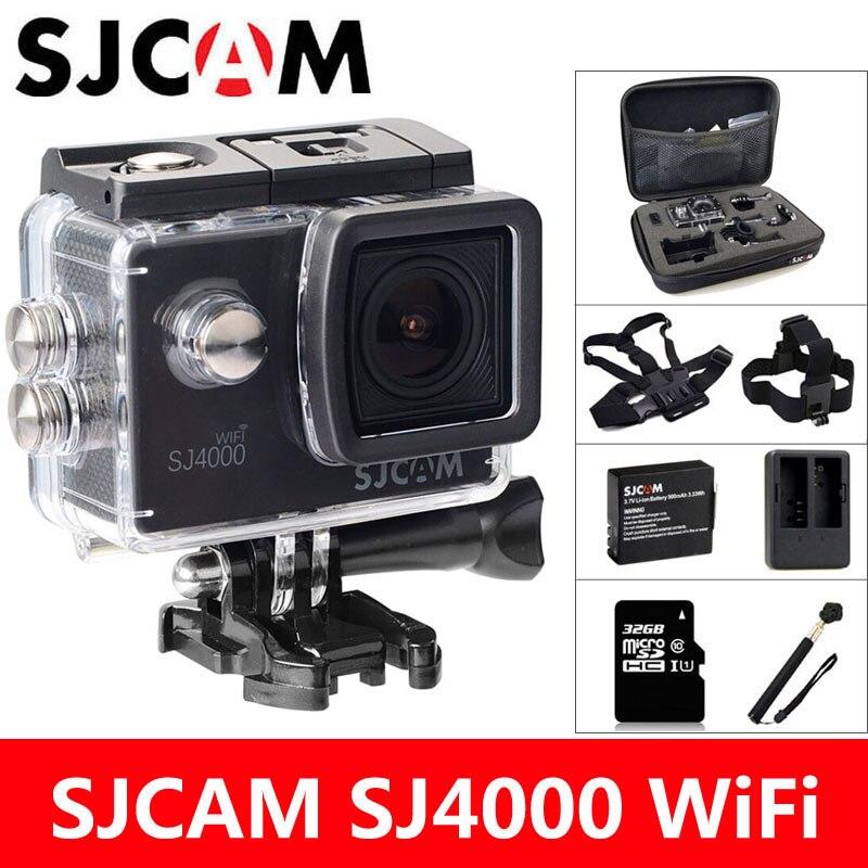 SJCAM SJ4000 WiFi Sport Action Kamera DV 1080 P 2,0 zoll bildschirm HD Tauchen 30 Mt Wasserdichte mini Camcorder Original SJ 4000 Cam