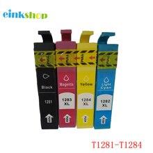 einkshop T1281 – T1284 Ink Cartridges Full Ink for Epson Stylus SX125 SX130 SX230 SX235W SX420W SX430W SX425W SX435W S22 Printer