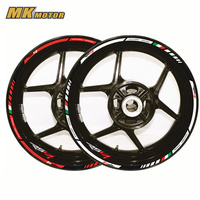 12 X Thick Edge Outer Rim Sticker Stripe Wheel Decals Motorcycle protection FIT APRILIA RSV4 17''