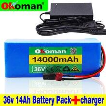 36 В батарея 10S4P 14Ah 18650 литиевая батарея 500 Вт аккумулятор высокой мощности 42 в 14000 мАч электровелосипед Электрический велосипед BMS+ 42 в зарядное устройство