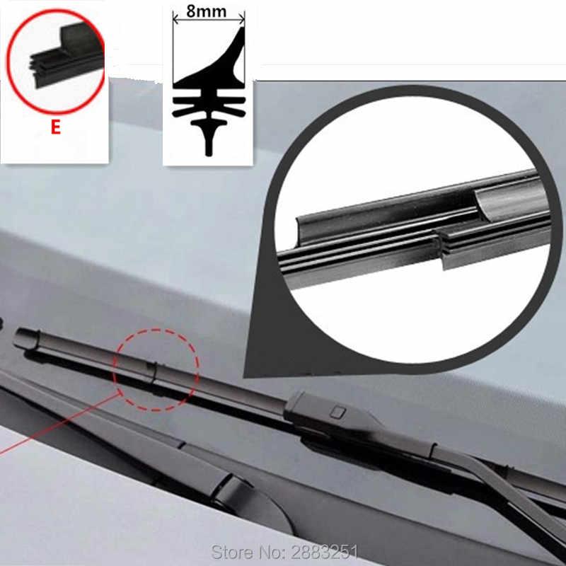 Livraison gratuite voiture pare-brise lame d'essuie-glace insérer bande de caoutchouc (recharge) pour DODGE Journey RAM 1500 calibre Nitro accessoires de voiture