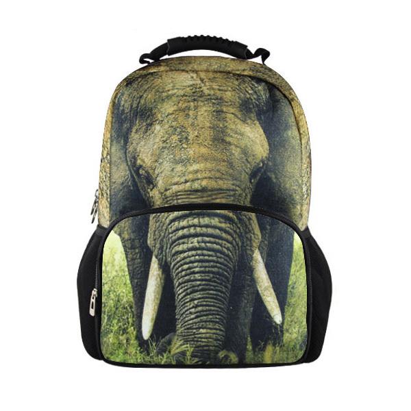 Gran Tamaño de Los Animales Sentía Mochila hombres Mochila Impresión del Elefante 3D para Niños de La Escuela, Estudiante Universitario Mochila Portátil Informal Mochila