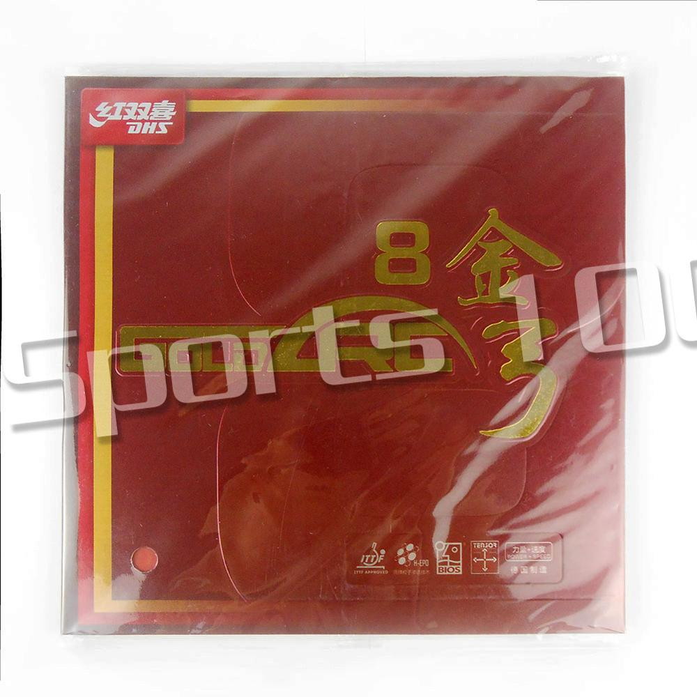 DHS GOLDARC 8 GoldArc VIII Ping Pong Pips in Table Tennis Rubber with Sponge