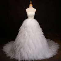 Vestido De Noiva Plus Size 2019 New Special Full Pearls Bow Princess Chins Ball Gown Wedding Dresses Online Shop China