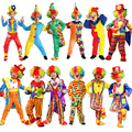 Free Shipping Variety Funny Clown Costumes Christmas Adult Boy Girl Joker Costume Cospaly Party Dress Up Clown Suit Costumes