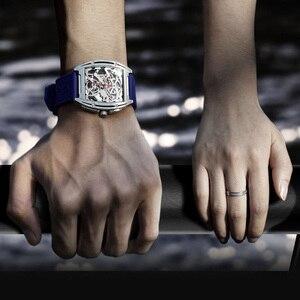 Image 4 - Youpin ciga z シリーズ中空アウト機械式腕時計腕時計シリカゲルファッション高級自動革リストバンドギフト
