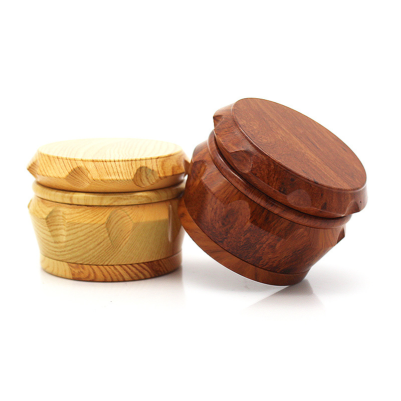 Image 5 - New Arrival Wood Grinder 63 MM 3 Layers Herb Grinder Aluminum Sharp Diamond Teeth Tobacco Grinder Herbal Weed Grinder Gifts-in Tobacco Pipes & Accessories from Home & Garden