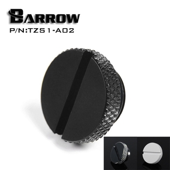 Barrow TZS1-A02/YKLZS1-T01 , G1/4'' White Black Silver Gold Acrylic water cooling plug , Coins can be used to twist the plug image