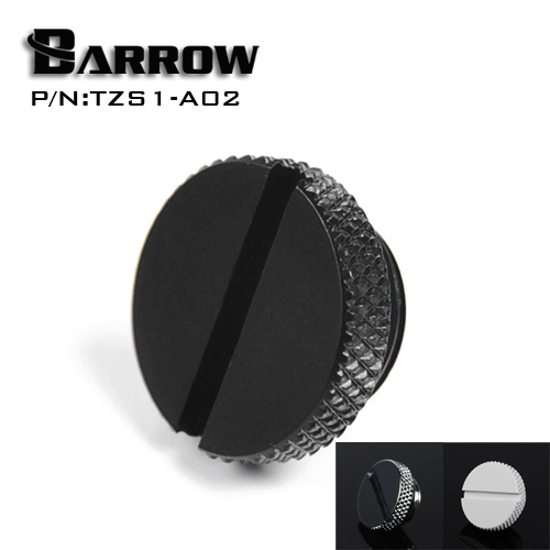 Barrow  G1/4'' White Black Silver Gold water cooling blank nozzle plug TZS1-A02 barrow white black silver gold g1 4 special edition hand tighten water stop water cooling fitting tbjdt v1