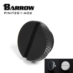 Barrow TZS1-A02/YKLZS1-T01 , G1/4'' White Black Silver Gold Acrylic water cooling plug , Coins can be used to twist the plug(China)