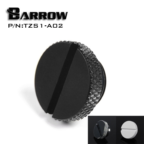 Barrow TZS1-A02/YKLZS1-T01 , G1/4'' White Black Silver Gold Acrylic water cooling plug , Coins can be used to twist the plug