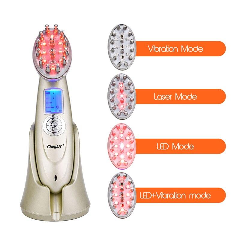 Laser électrique cheveux croissance peigne Anti perte de cheveux traitement infrarouge RF Nano rouge lumière EMS Vibration Massage cheveux brosse cheveux Care46