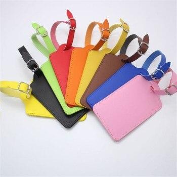 High-Quality PU Leather Suitcase Luggage Tag Label Bag Pendant Handbag Portable Travel Accessories Name ID Address Tags LT23b