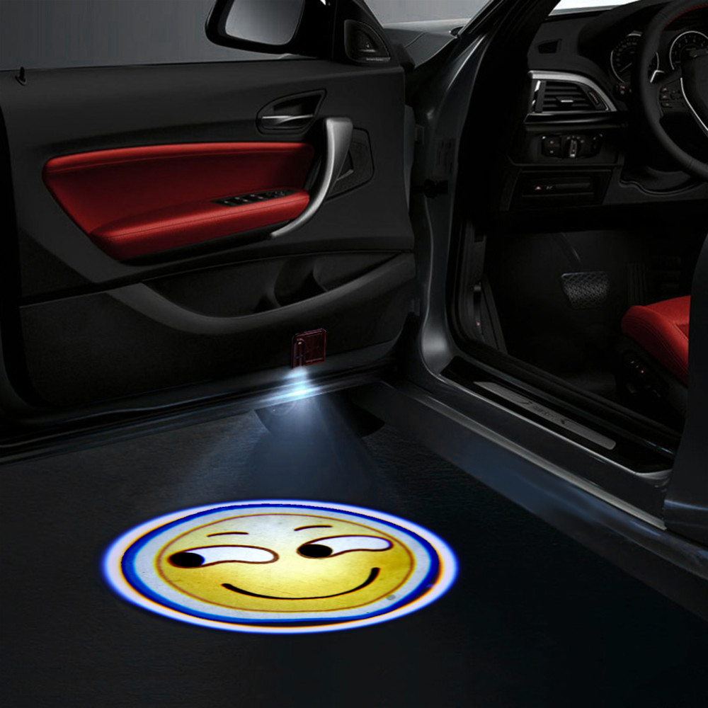 1pcs Custom-made LED Car Door Welcome Light Car Door Shadow LED Projector Logo Wireless Car Welcome Door Laser Lights Universal