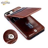 KISSCASE Leather Flip Case For IPhone 6 6s 7 Plus Retro Cover Phone Bag Case For