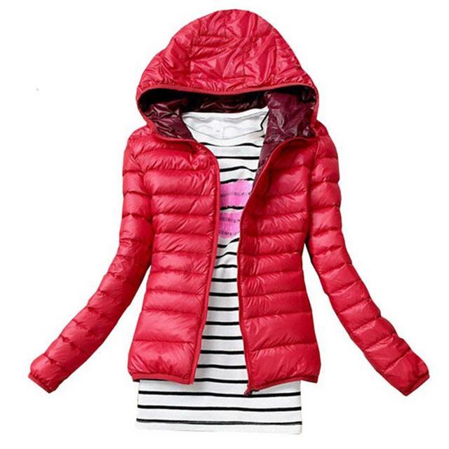 Nueva Moda de Invierno Parkas Mujer Down Jacket Parka Chaqueta de Ropa de Abrigo de Invierno Abrigo de Color Femenino