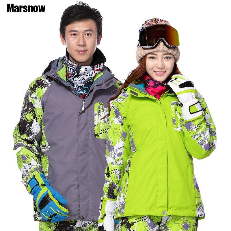 Marsnow Hiver veste hommes M-3XL double couche imperméable coupe-vent chaud de neige Veste À Capuche Manteau pardessus hommes Ski Outwear Mâle