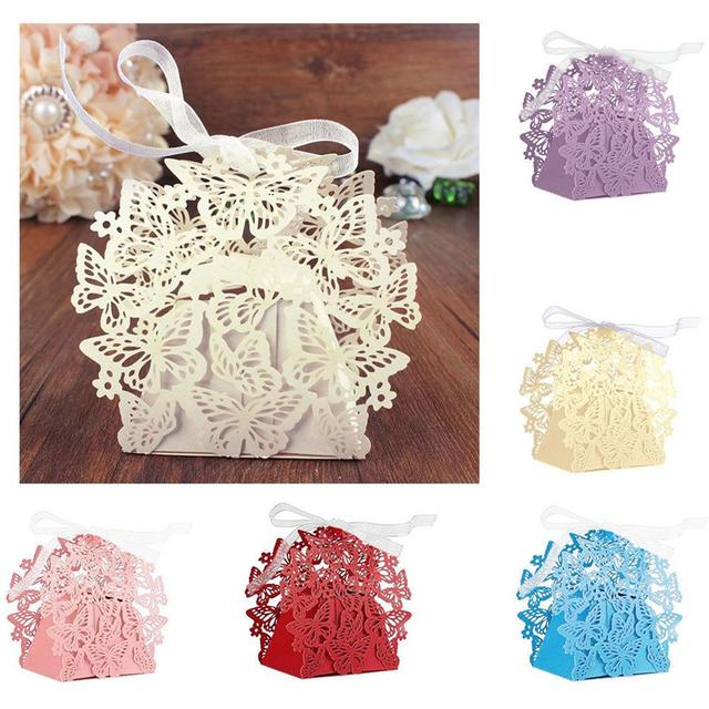 10 Pcs Lace Candy Boxes