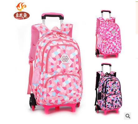 kid's Travel luggage Rolling Bags School Trolley bag Backpack On wheels Girl's Trolley School backpack wheeled bags for girls